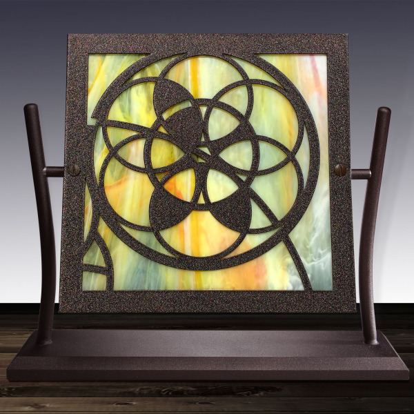 Rose Window Series (Bronze & Yellow)